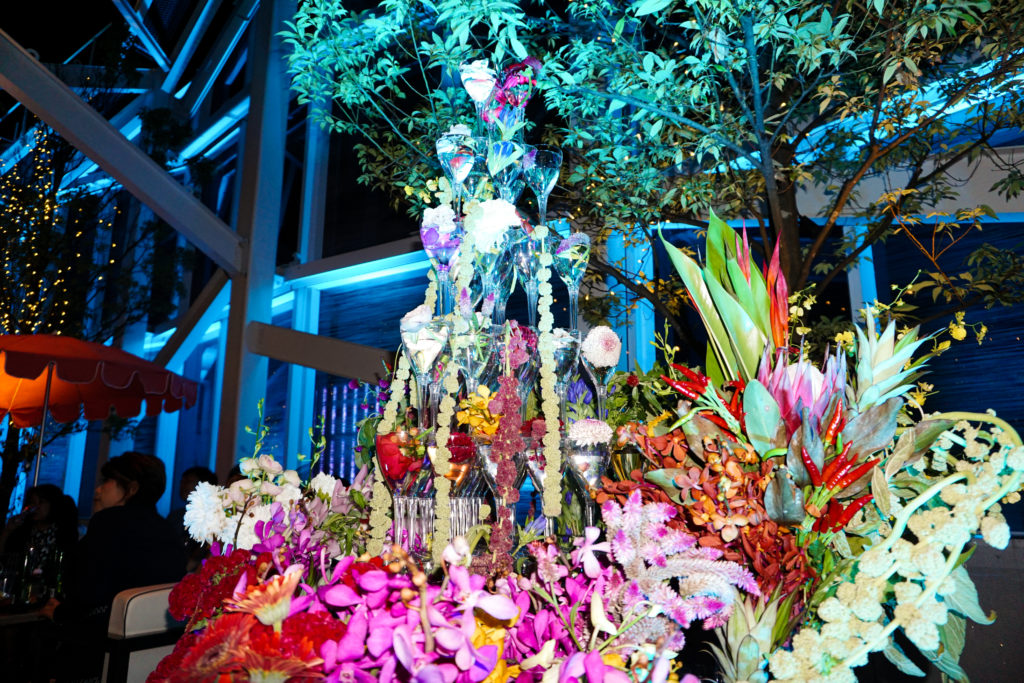 フラワーアート flowerchampagnetower